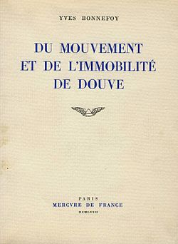 Image illustrative de l'article Du mouvement et de l'immobilité de Douve