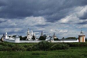 Вид на монастырь с юго-запада (с правого берега реки Вологды)