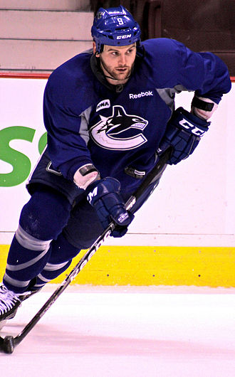 2013–14 Vancouver Canucks season - Zack Kassian received an eight-game suspension for the reckless use of his stick.