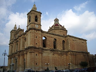 Żejtun - The parish church of Saint Catherine of Alexandria, V.M., finished in 1778.