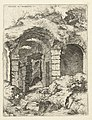 Zesde gezicht op het Colosseum te Rome Colossæi ro prospectvs 6 (titel op object) Romeinse ruïnes (serietitel), RP-P-1882-A-6442.jpg