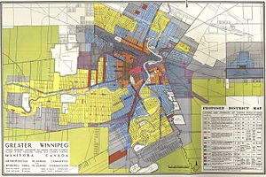 Zoning - Example of Single-Use Zoning Regulations (Greater Winnipeg District Map, 1947)