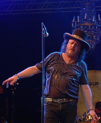 "Italian singer Zucchero is credited as the ""Father of Italian Blues"", and is among the few European blues artists who still enjoy international success Zucchero 01 trim.jpg"