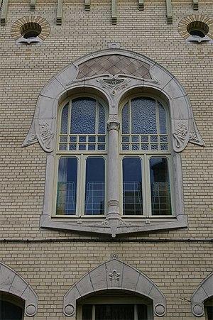 "Joseph Bascourt - De Morgenster (""The Morningstar""; 1904), at Cogels-Osylei 55 in the Zurenborg area of Antwerp, is a typical Art Nouveau design by Joseph Bascourt"