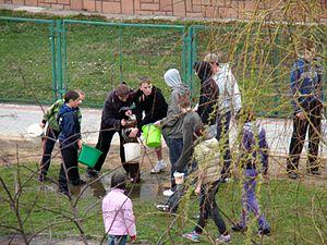 Śmigus-dyngus - Śmigus-dyngus in Sanok, 2010