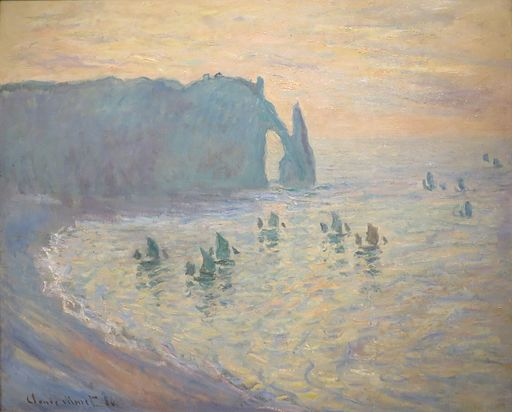 'The Beach at Étretat' by Claude Monet, 1885-86, Pushkin Museum