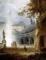 'La Fuente', óleo sobre lienzo de pintura de Hubert Robert, c.  1775-1778, Kimbell Art Museum.jpg