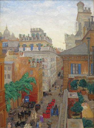 Anders Castus Svarstad - Via Bocca di Leone, Rome (1908)