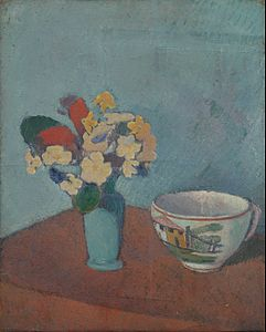 Émile Bernard - Vase with flowers and cup - Google Art Project.jpg