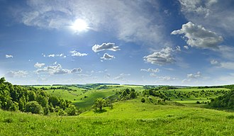 Central Russian Upland - Typical view of a central Russian upland (Belgorod Oblast)