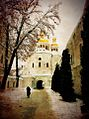 Всехсвятська (Мазепинська) церква над економічною брамою Києво Печерської Лаври, Київ, Україна.jpg