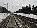 Железная дорога. Посёлок Красное. Railroad. Red village. - panoramio.jpg