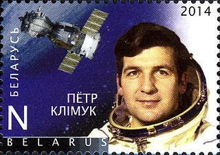 Cosmonaut Pyotr Klimuk portrayed on a Belarus postage stampSource: Wikipedia 320px-%D0%9F%D1%91%D1%82%D1%80_%D0%9A%D0%BB%D1%96%D0%BC%D1%83%D0%BA.jpg