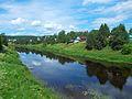 Река Оять в селе Винницы.JPG