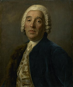 Francesco Bartolomeo Rastrelli - Portrait of Count Rastrelli painted by Pietro Rotari
