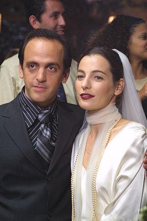 Nina's Tragedies - Ayelet Zurer and Yoram Hattab on the set of Nina's Tragedies