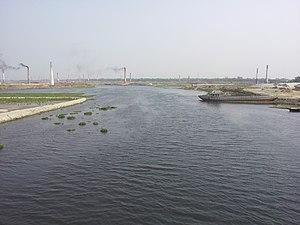 Turag River - The river at Ashulia