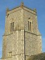 -2020-11-06 The bell tower, South facing elevation, St Bartholomew's, Hanworth, Norfolk.JPG