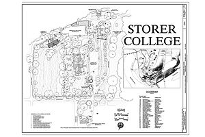 Storer College - Image: 00001r Storer College Campus Map