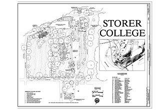 Storer College - Image: 00001r Storer College Campus Map