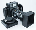 0342 Mamiya Universal Super 23 250mm f5 lens with hood (5645858219).jpg