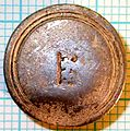 04-334 17th century silver sleeve button (reverse) (FindID 77926).jpg
