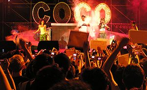 "Coco Lee - Lee (on the left), performing ""Hip Hop Tonight"""