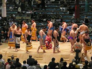 Professional sumo divisions - Jūryō dohyō-iri