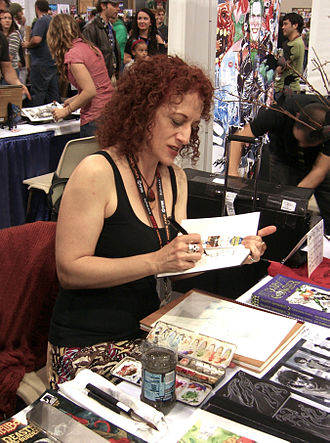 Jill Thompson - Thompson illustrating in her sketchbook