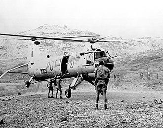 RAF Khormaksar - Belvedere HC.1 of 26 Squadron based at Khormaksar c1964
