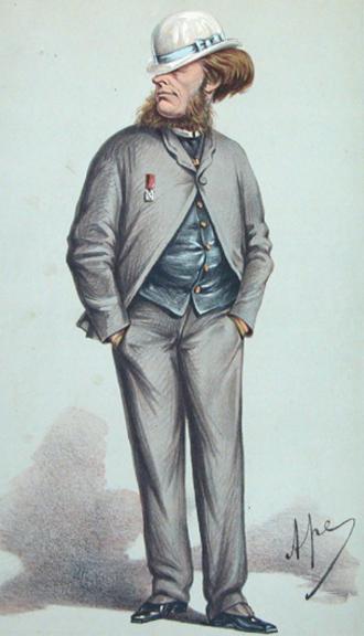 Francis Charteris, 10th Earl of Wemyss - Lord Elcho by Carlo Pellegrini, 1870.