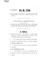116th United States Congress H. R. 0000256 (1st session) - People's Border Wall Fund Act.pdf