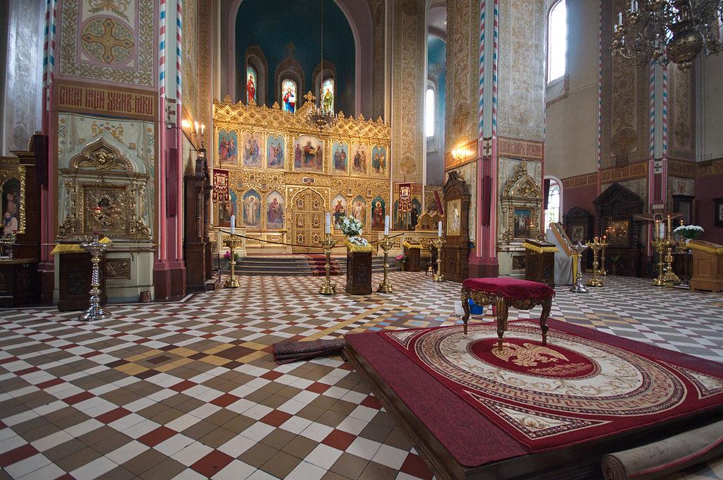 Intérieur de la cathédrale Nevsky à Tallin en Estonie.