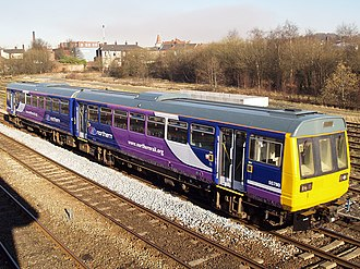Northern Rail (Serco-Abellio) - Class 142 Pacer at Castleton East Junction in 2008