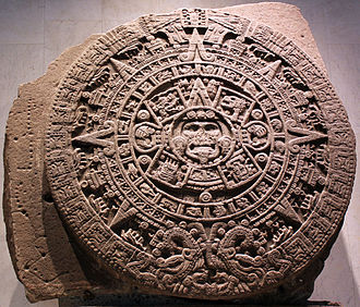 Juan Vicente de Güemes, 2nd Count of Revillagigedo - Aztec calendar stone discovered in 1790 and now at the National Anthropology Museum in Mexico City.