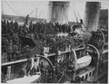 15th Infantry fighters home with War Crosses. French liner La France arrives with 15th Infantry . . . - NARA - 533549.tif