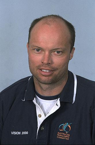 David Hall (tennis) - 2000 Australian Paralympic Team portrait of Hall