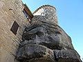 160 Castell de Rocafort de Vallbona, base de roca de la torre.jpg