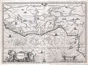 Gabon - A map of West Africa in 1670