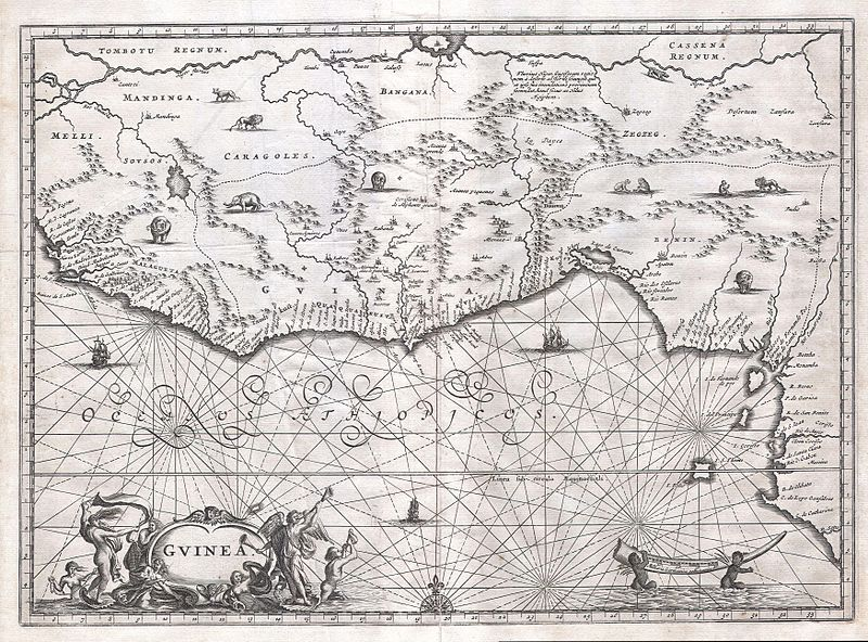 File:1670 Ogilby Map of West Africa ( Gold Coast, Slave Coast, Ivory Coast ) - Geographicus - Guinea-ogilby-1670.jpg