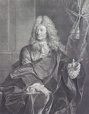 François Chéreau - Portrait of Nicolas Delaunay, goldsmith, after a painting by Hyacinthe Rigaud