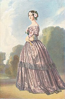 "1850s watercolour portrait of Princess Francisca of Brazil, ""Princess of Joinville"" by Winterhalter (Versailles).jpg"
