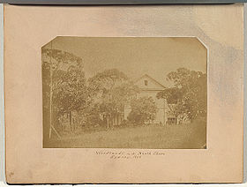 Early photo of Woodlands house circa 1858, possibly the earliest known photograph of Kirribilli