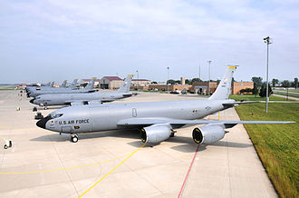 185th Air Refueling Wing - 185th Air Refueling Wing KC-135R Stratotankers on the ramp at Sioux City Air National Guard Base