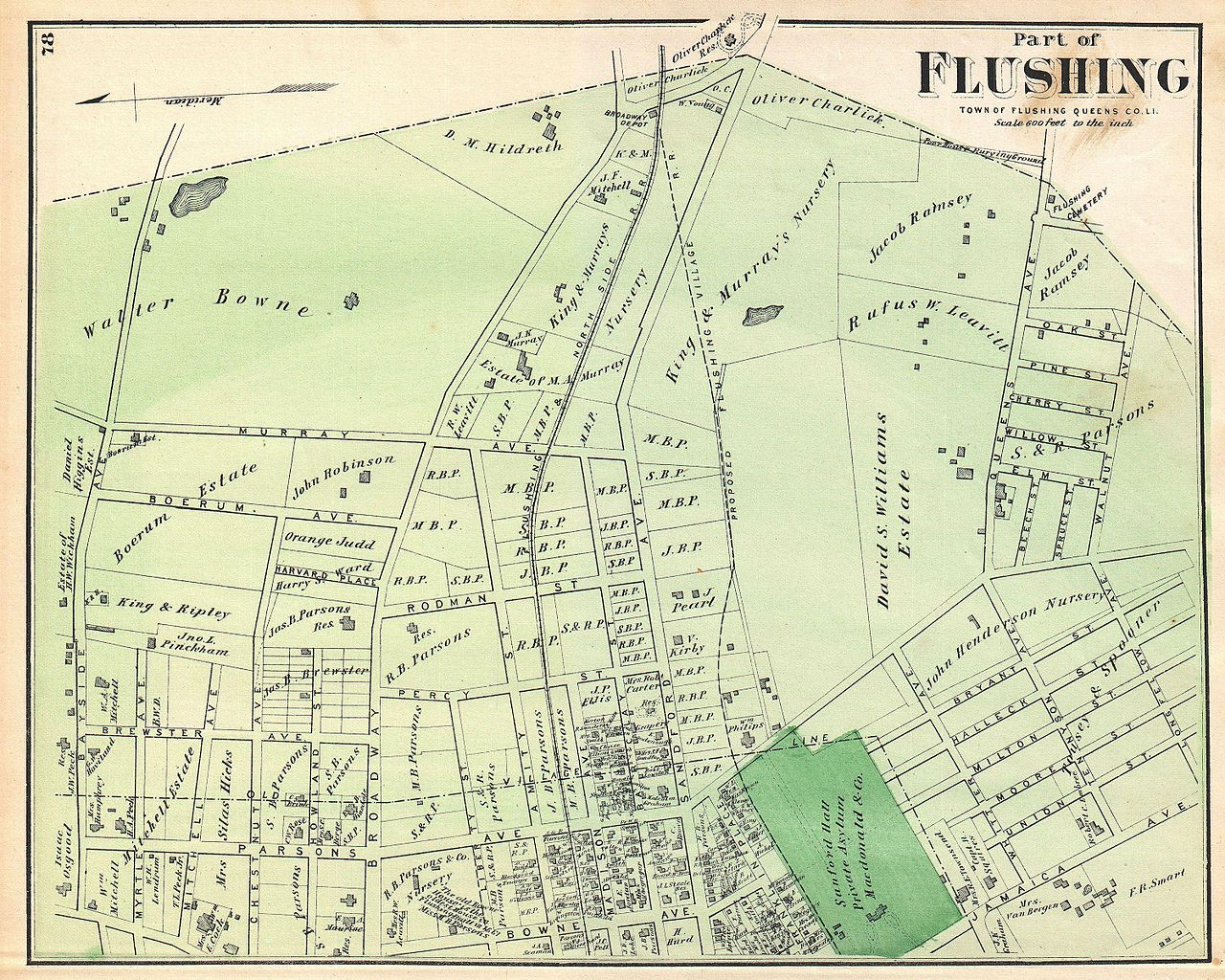 File Beers Map Of Part Of Flushing Queens New York City - Nyc map wallpaper