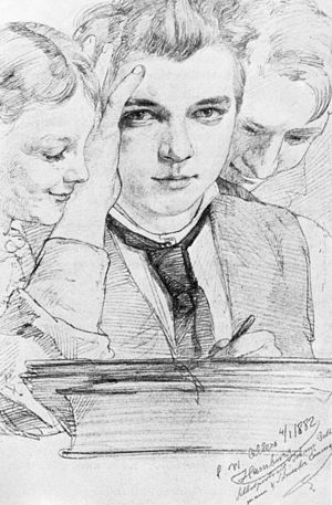Christian Wilhelm Allers - Self portrait, 1882
