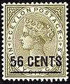 1885 56c surch Ceylon Yv105 SG192.jpg