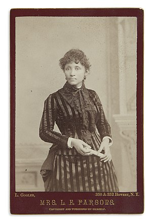 Albert Parsons - Lucy Parsons, as she appeared in 1886.