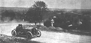Henri Rougier - 1903 Paris-Madrid race. Henri Rougier driving his Turcat-Méry 45-hp finished 11th overall, and 9th in the heavy car class