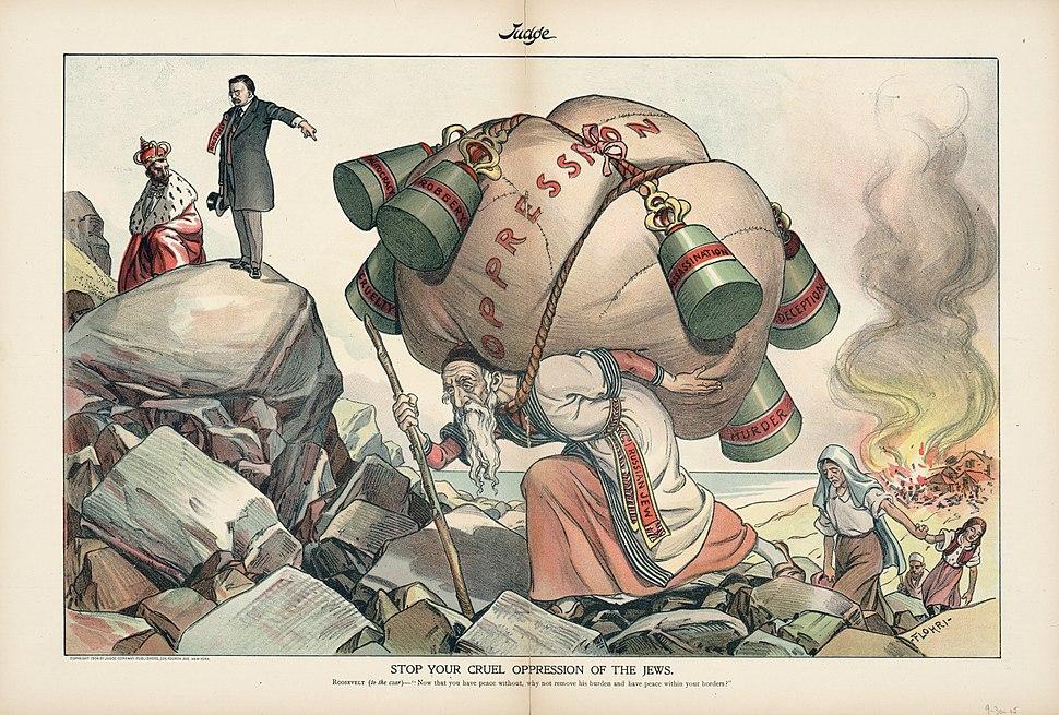 1904 Russian Tsar-Stop your cruel oppression of the Jews-LOC hh0145s